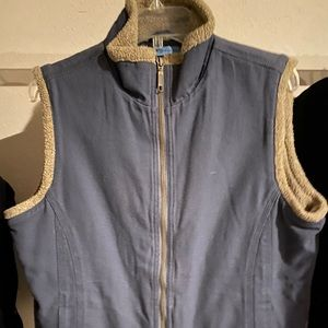 Women's Duluth Trading Co Fleece Lined Heavy Vest